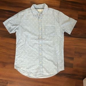 Chambray print short sleeve shirt